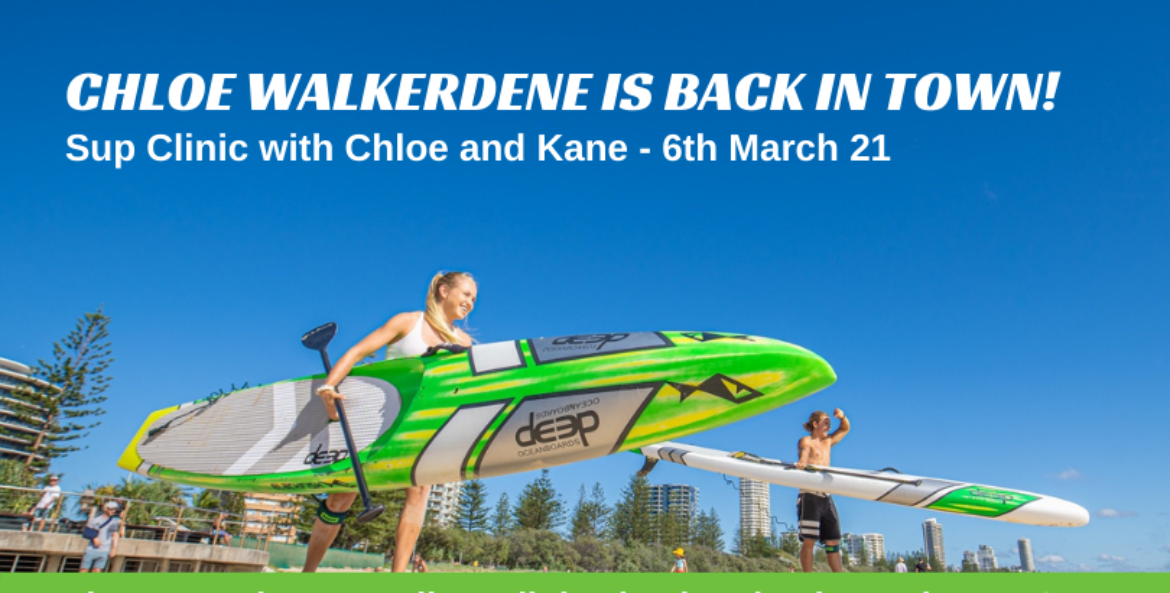 SUP CLINIC WITH CHLOE WALKERDENE AND KANE DEGRAUW